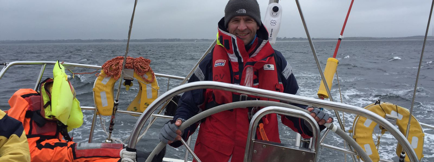 Will Stokely on board Clipper Race training