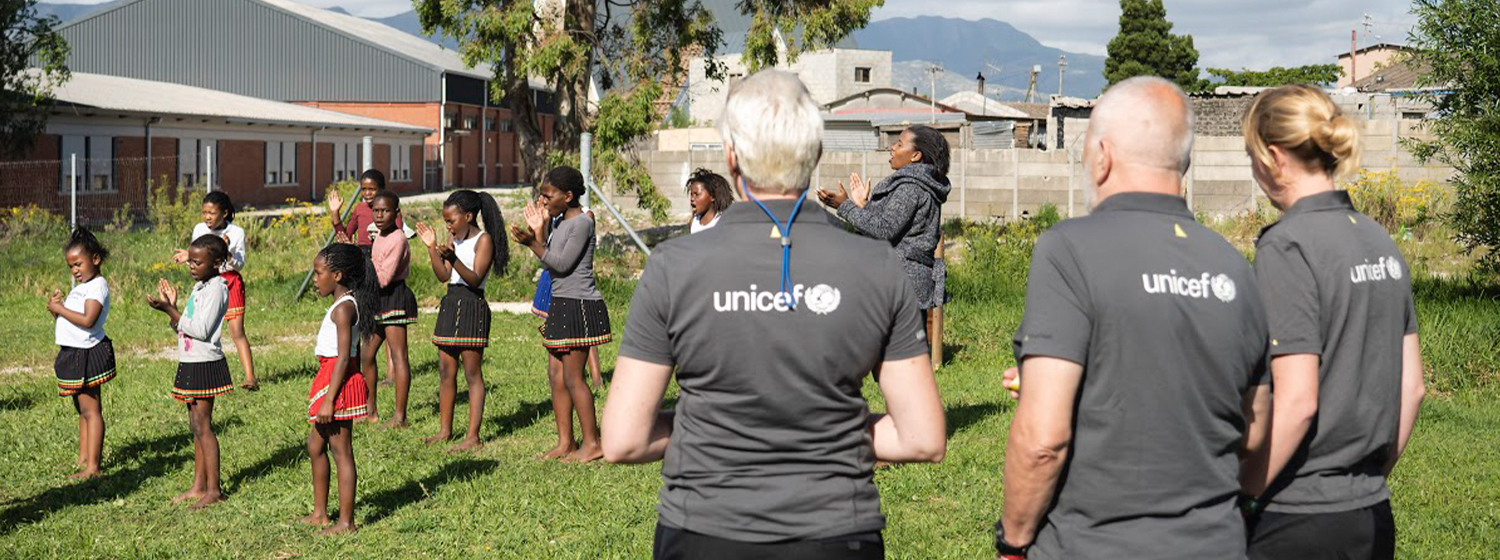 Race Crew visiting the Unicef funded Isbindi safe park