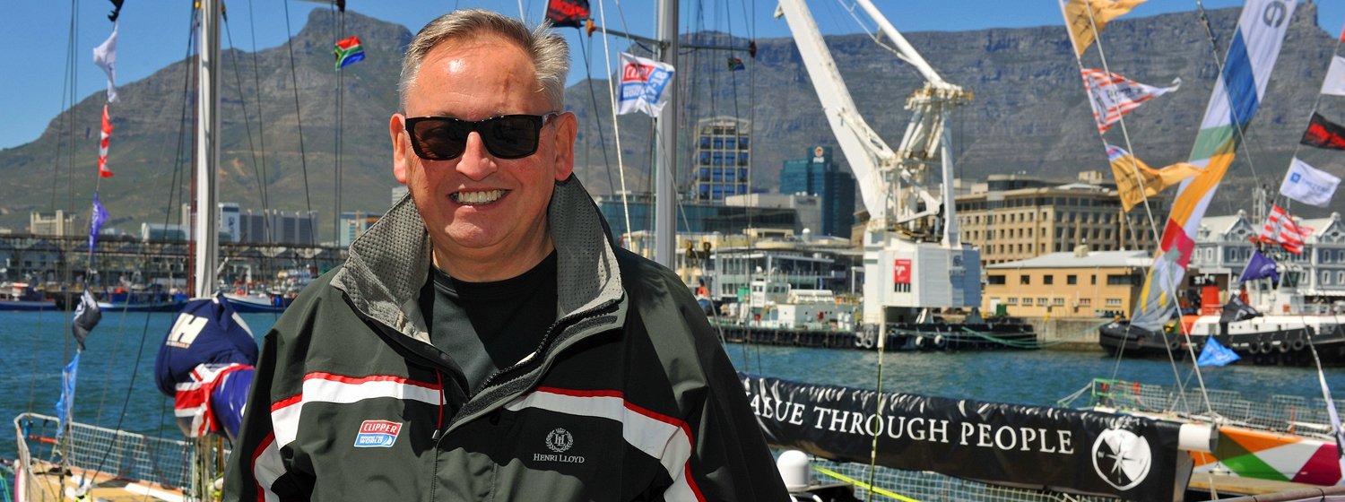 Jonathan in Cape Town during the Clipper Race Stopover in October 2017