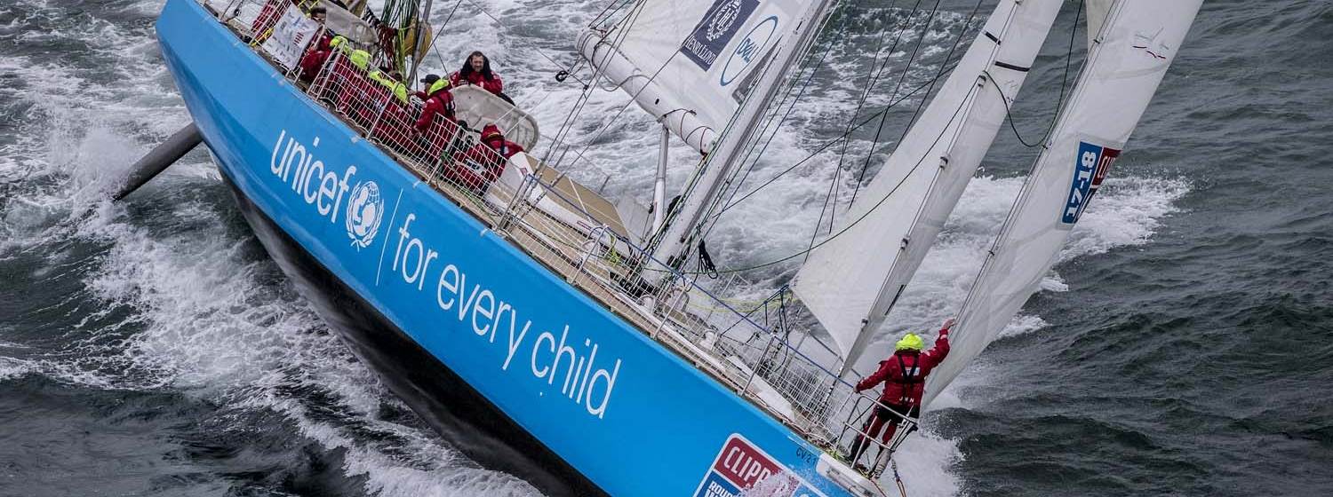 Clipper70, Unicef, holds first place today