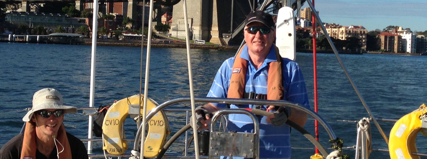 Ken Brown on his Clipper Race training in Sydney Harbour