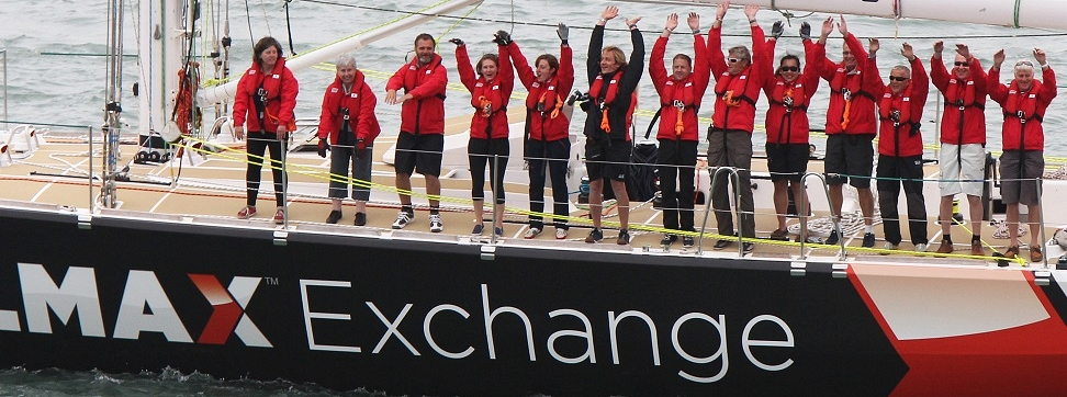 Members of the LMAX Exchange Clipper Race team