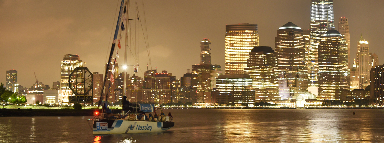 Nasdaq arrives into New York