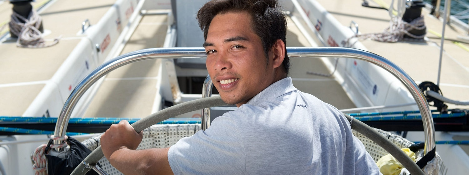 Minh An pictured on a Clipper boat