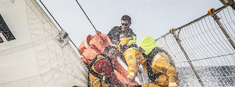 Ha Long Bay crew hoist head sail