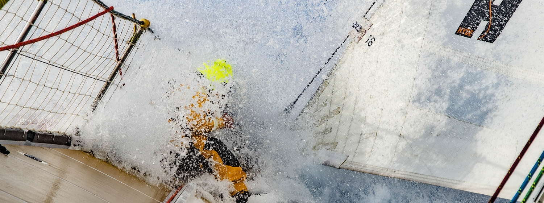 Splash on the bow