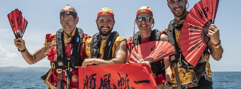 Celebrating on board Visit Sanya, China