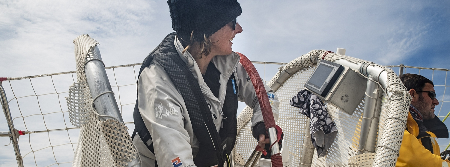 Clipper Race Crew, Melody Schaffer, received her Gold DoE Award from HRH Prince Philip