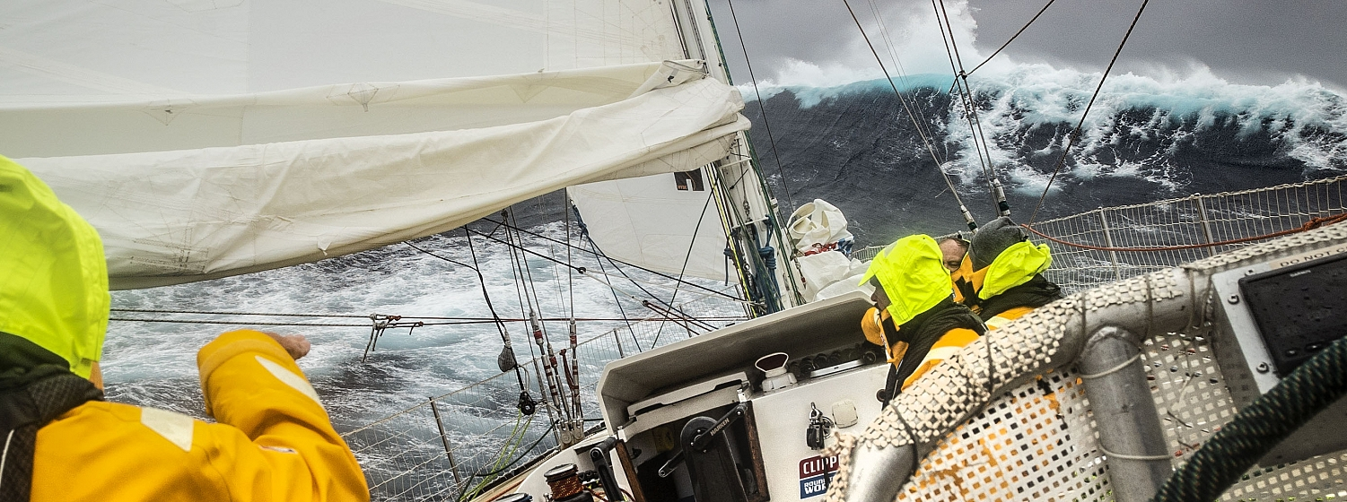 Crew on WTC Logistics as they race towards South Africa