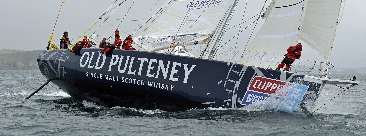 Old Pulteney takes part in the Clipper 2013-14 Race