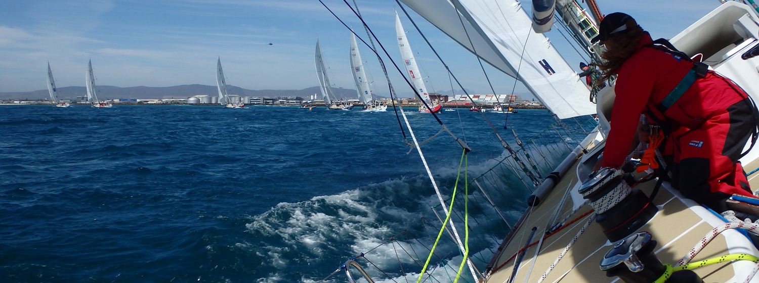 On board image taken from Invest Africa during the 2013-14 race.