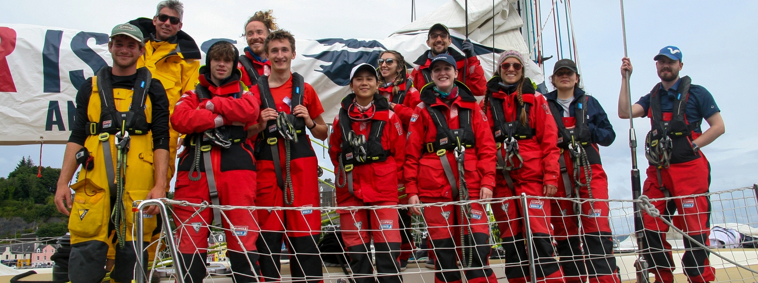 Our Isles and Oceans ambassadors on board their Clipper68 training yacht