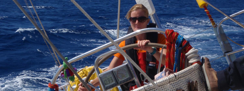 Della on board the race