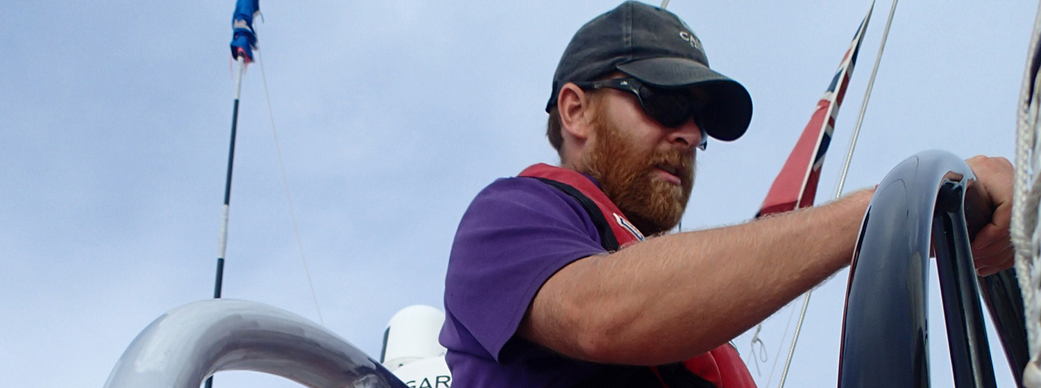 Ali Murrell at the helm of Derry~Londonderry~Doire