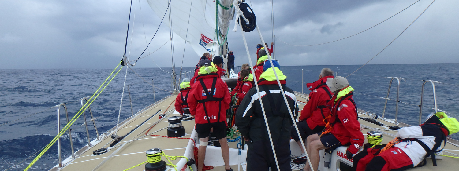 ​Race 1 Day 22: Careful trimming and helming key in Ocean Sprint phase