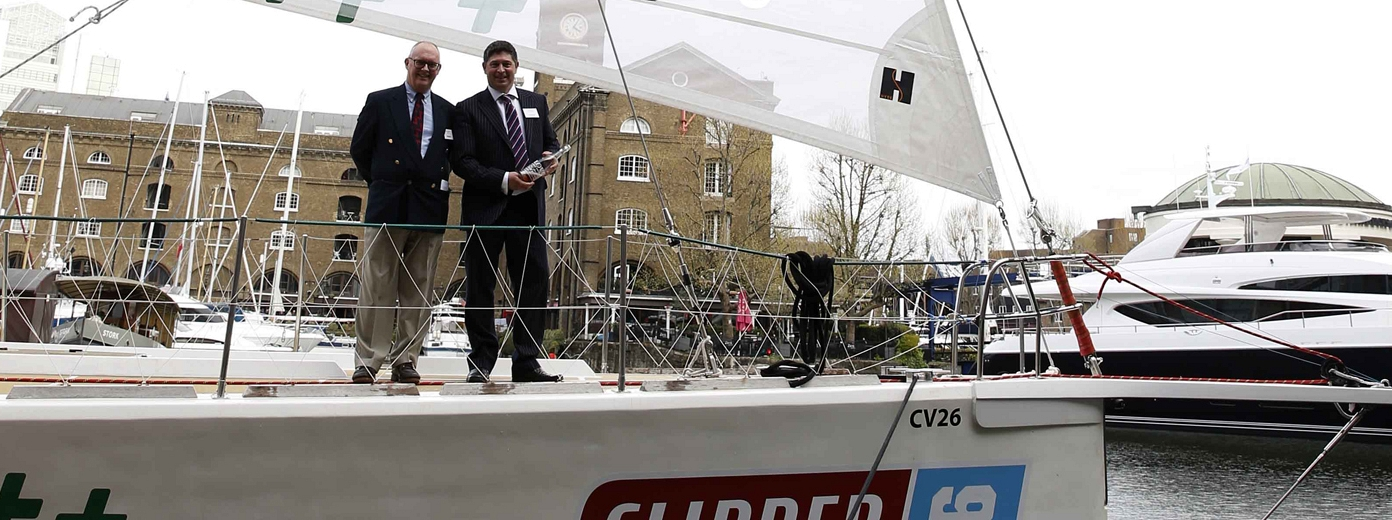 ClipperTelemed+™ yacht launched in London's St Katharine Docks