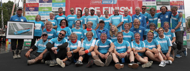 Team Unicef celebrating at Race Finish