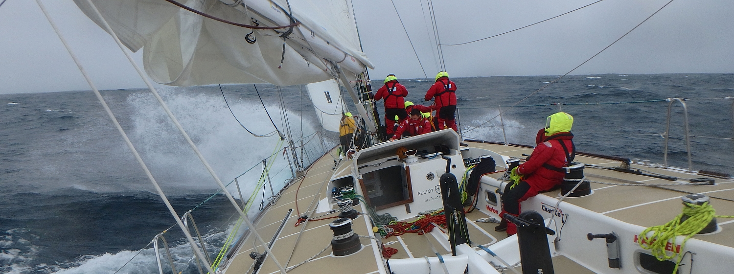 ​Race 3 Day 12: Front moves over fleet bringing more exhilarating conditions