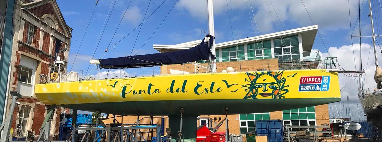 Punta del Este debut team yacht