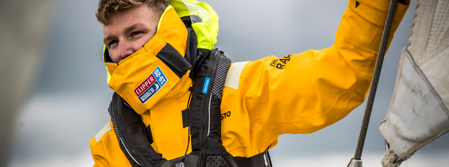 Clipper Race Crew in Spinlock Lifejacket