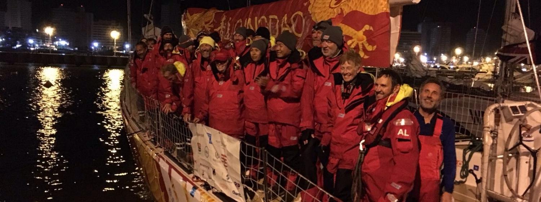 Qingdao team arrives