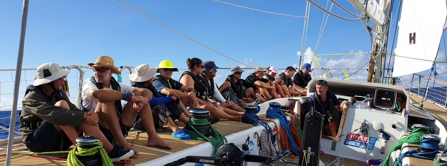 The Dare to Lead crew eagerly await their Equator crossing