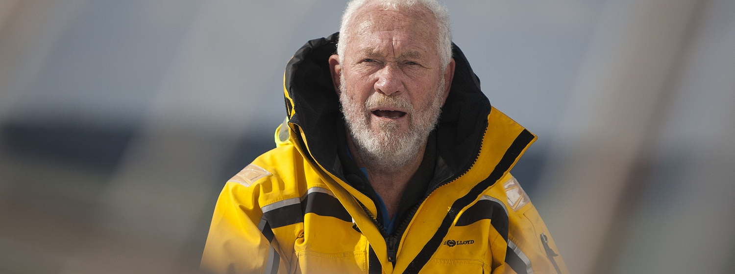 It has been a tiring 24 hours of rain squalls for Sir Robin Knox-Johnston