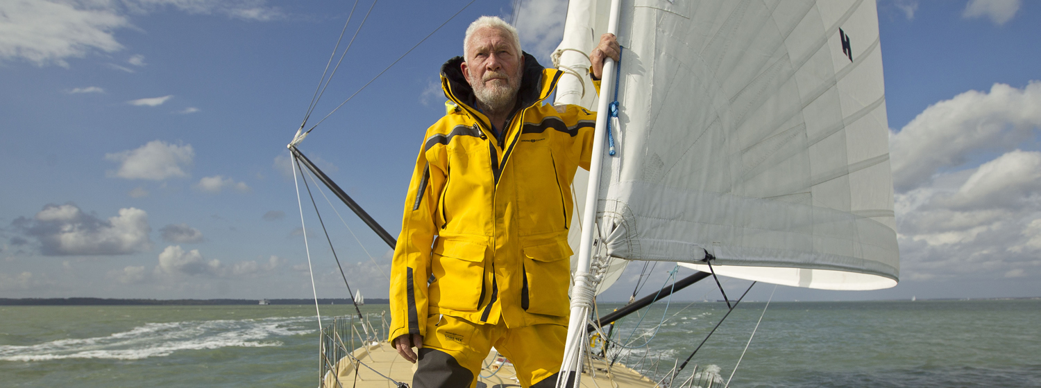 Sir Robin Knox-Johnston is en route to St Malo, France for the start of the Route du Rhum - Destination Guadeloupe