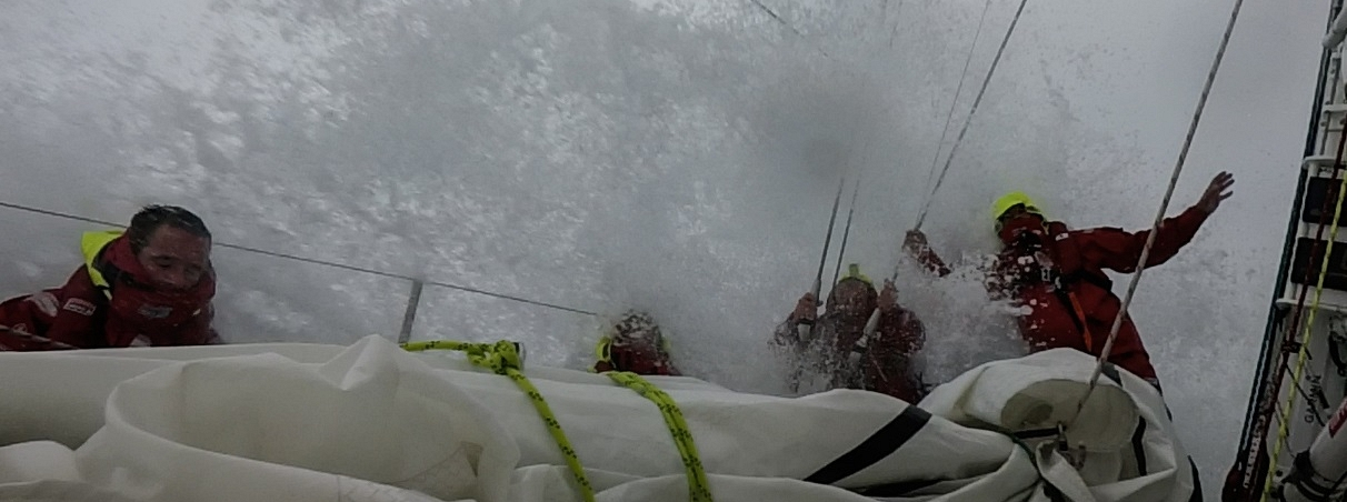 Crew members on Derry experience tough conditions