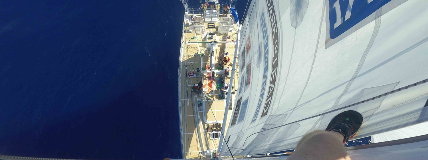Up the mast on Dare To Lead