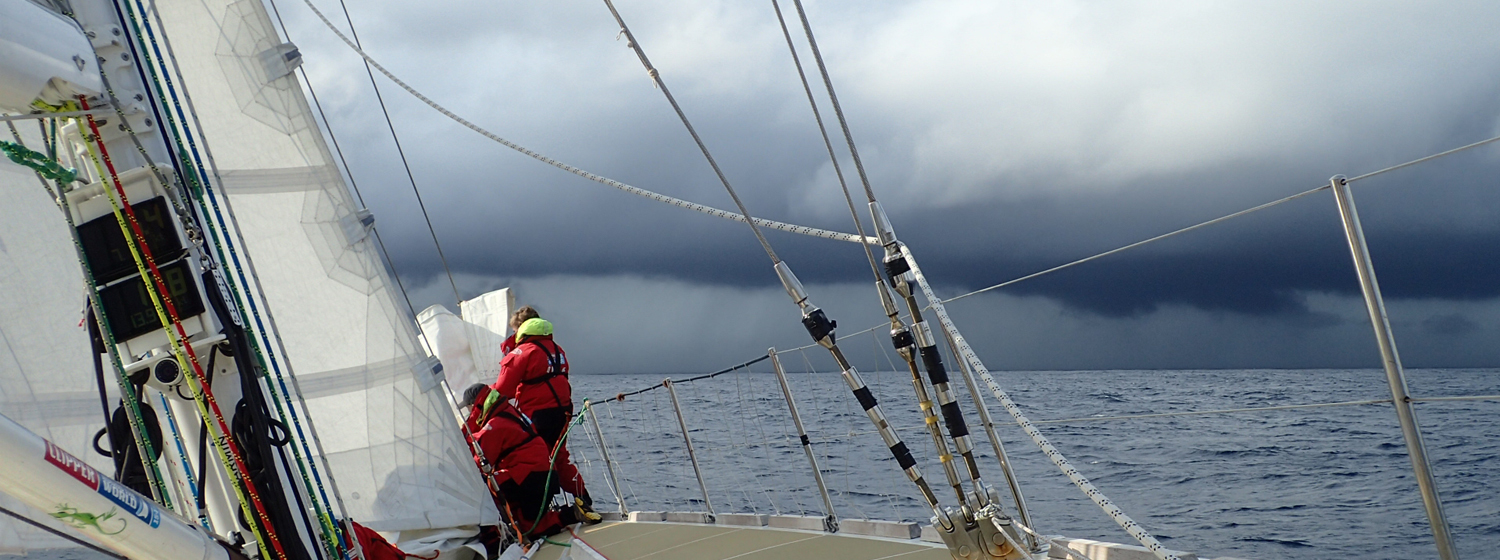 ​Race 8 Day 9 Exhausting sailing with fickle wind, fog and fishing fleets