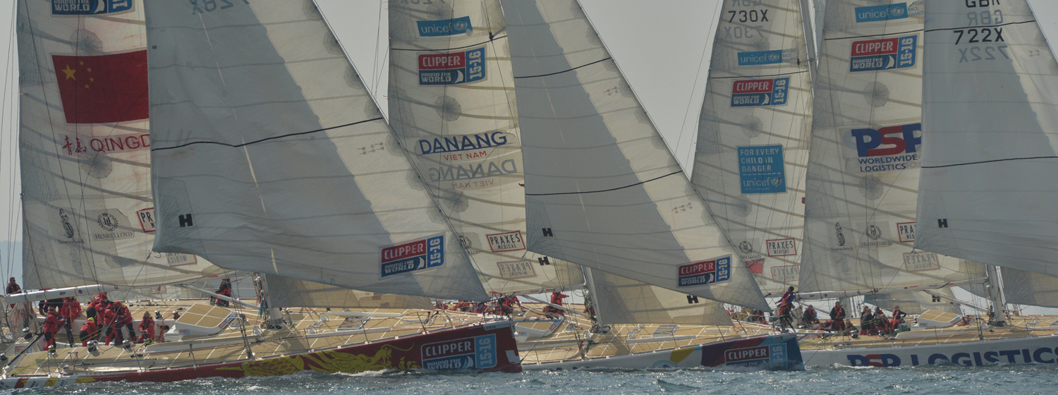 Clipper Race fleet le mans start