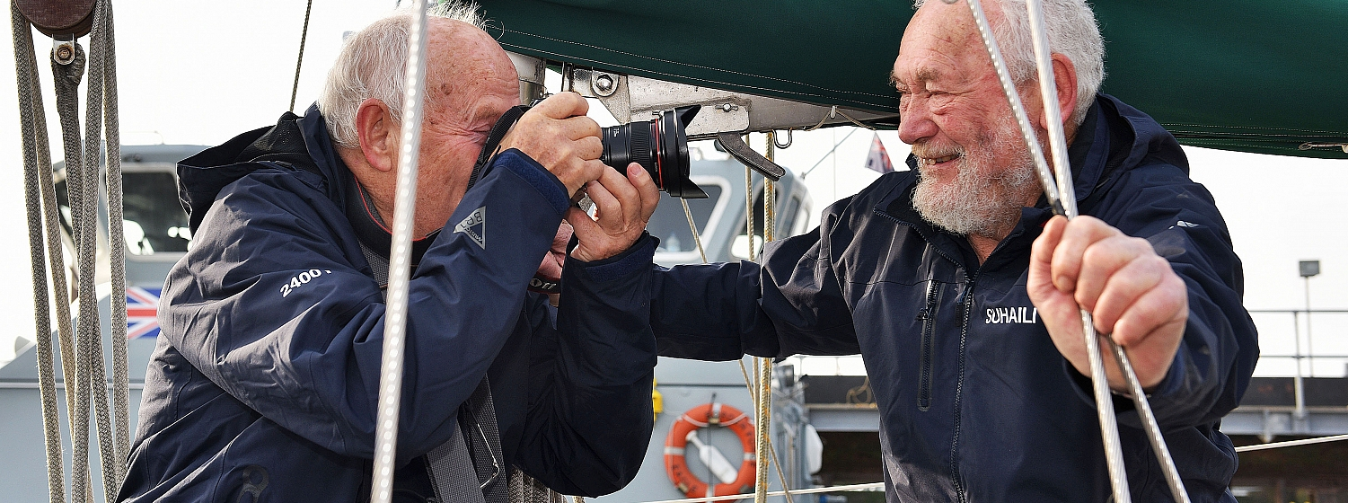 Photographer Bill Rowntree is in Falmouth after capturing Sir Robin's return 50 years ago
