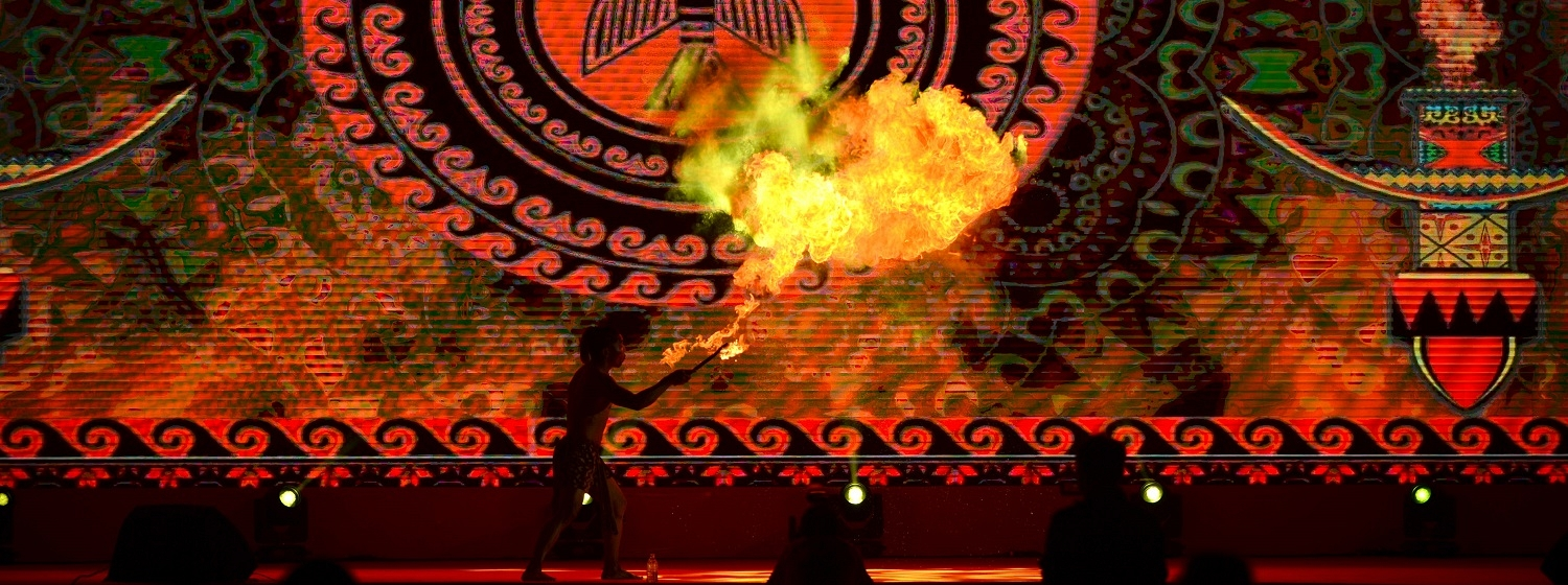 Dancer with fireball at Sanya Prize Giving