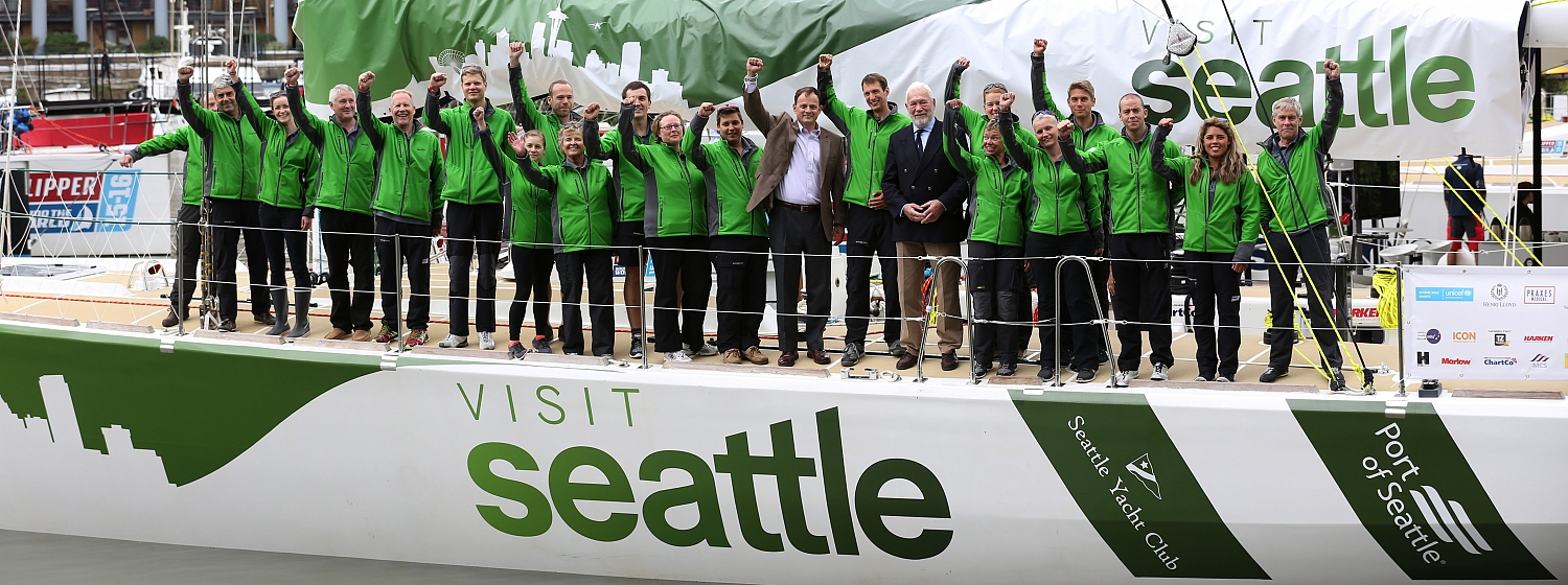 ​The Visit Seattle yacht has officially been named ahead of its ocean-racing debut in the Clipper 2015-16 Race.