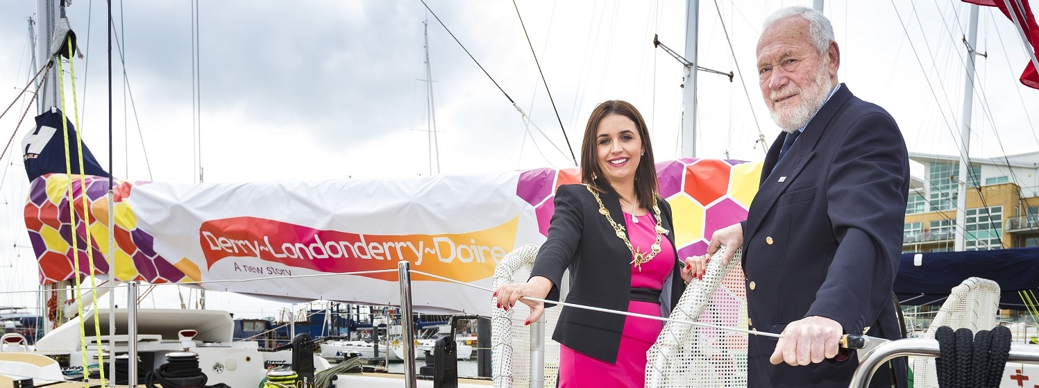 Clipper Race gifts Derry City and Strabane District Council bursary for local heroes