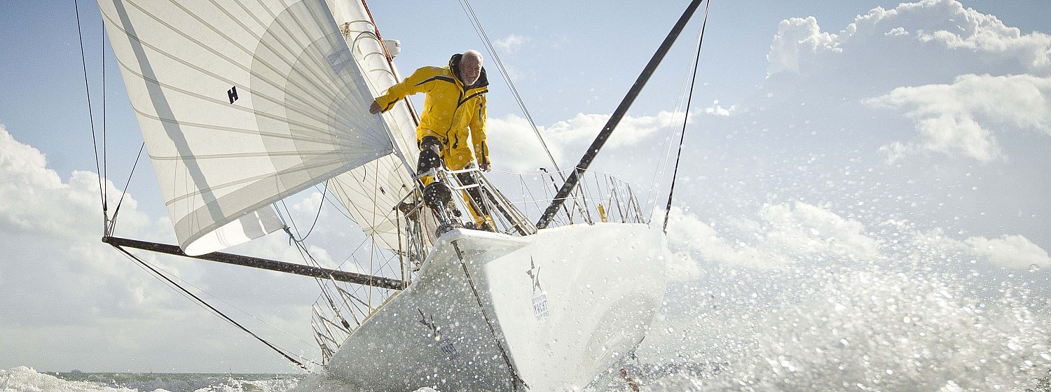 Clipper Race chairman and founder Sir Robin Knox-Johnston is seventh