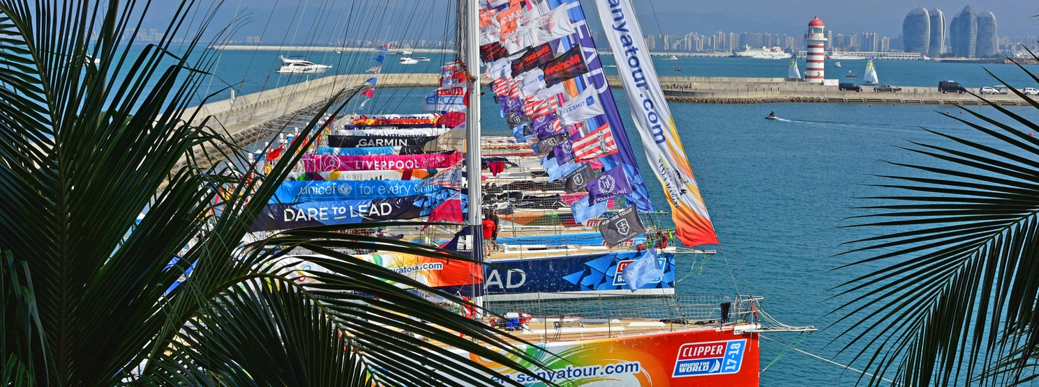 Clipper Race fleet departs Sanya