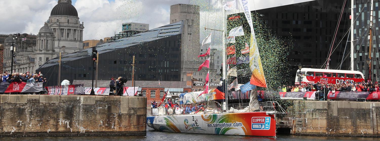Sanya Serenity Yacht arriving in Liverpool