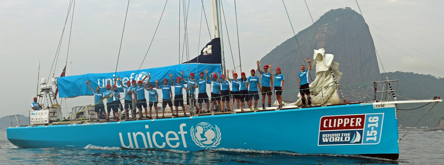 Unicef with Sugarloaf Mountain the in the background