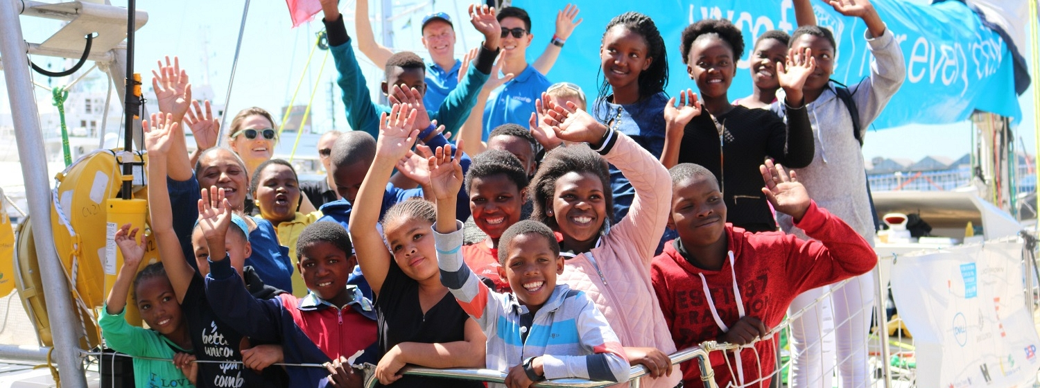 Unicef boat in Cape Town visited by children from the Isibindi project