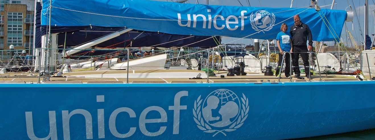 The newly announced Unicef branded boat