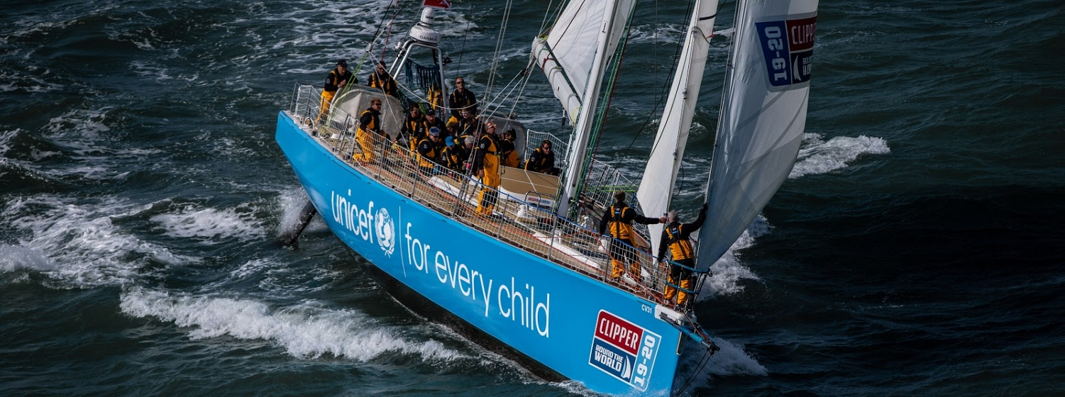 The UNICEF team entry in the Clipper 2019-20 Race