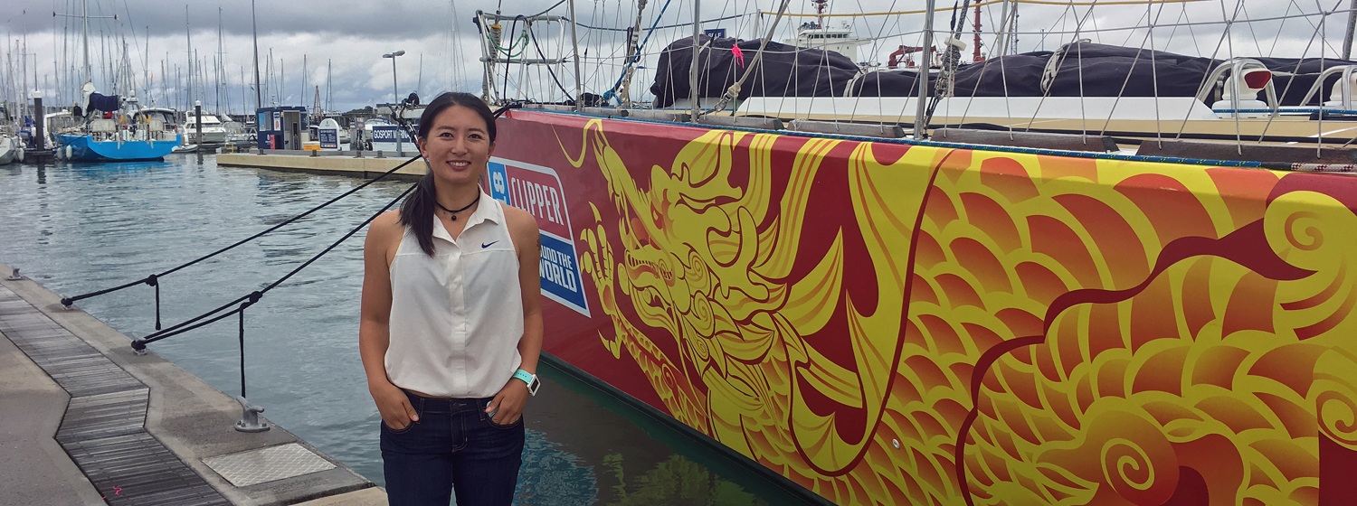 Vicky Song with Qingdao Clipper 2017-18 Race yacht
