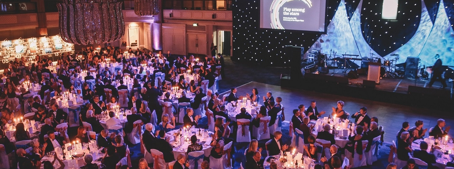 Clipper Race Anniverdary Ball stage at Grosvenor House