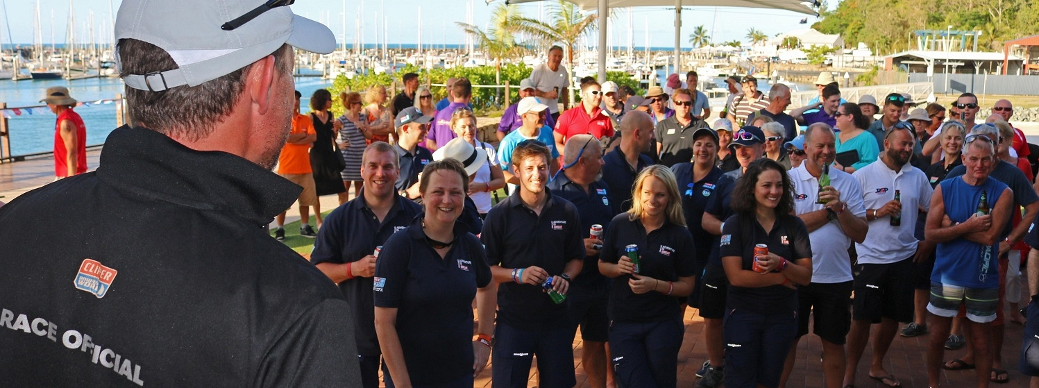 JT addresses new crew in Airlie Beach