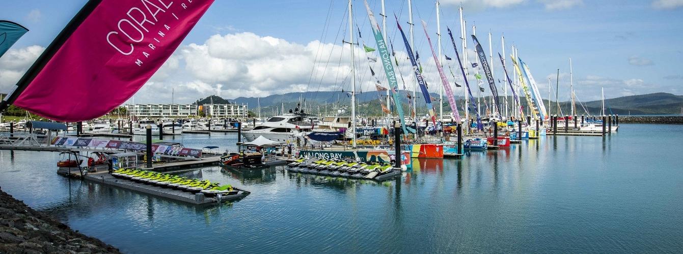 Clipper Race fleet in the Whitsundays