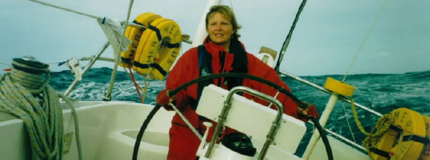 Wendy at the helm in Cyclone