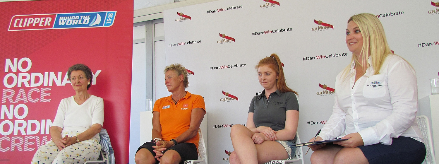 Wendy Tuck takes part in women in sailing event at the CYCA
