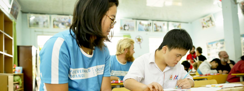 Clipper Race crew visit day care centre in Da Nang Vietnam
